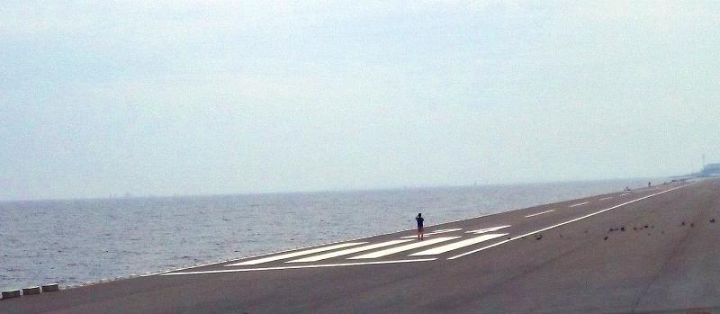 浦安に残る特設滑走路。