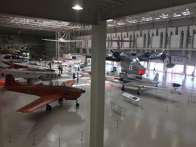 各務ヶ原航空宇宙科学博物館、メインフロア全景。