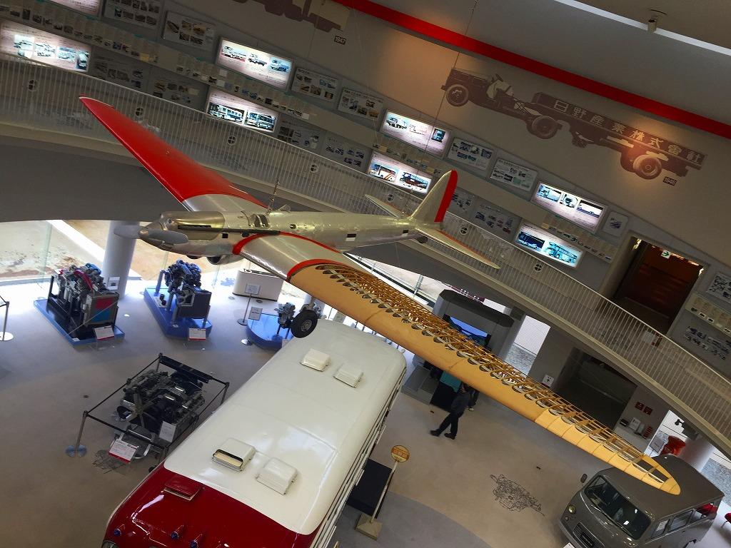 天井から航研機。