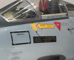 F-104機首マーキングアップ。