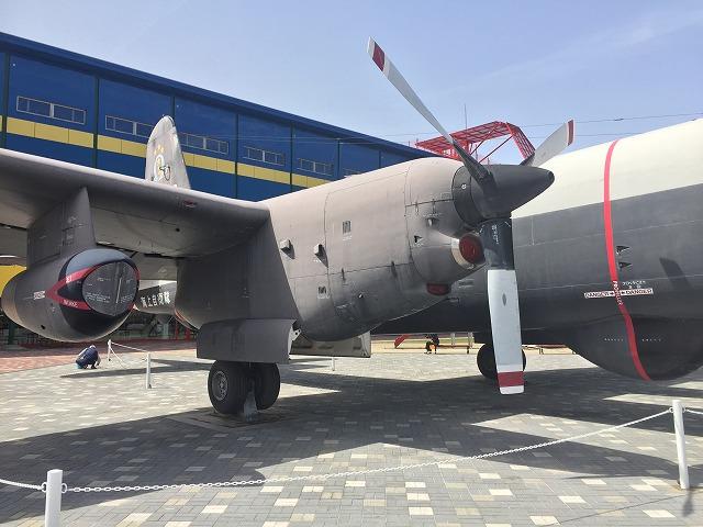 P-2J、プロペラとジェットエンジンそろい踏み。
